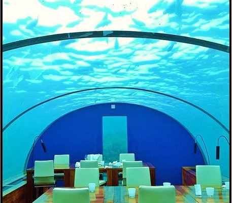 Denizaltındaki Bir Restoranda Yemek