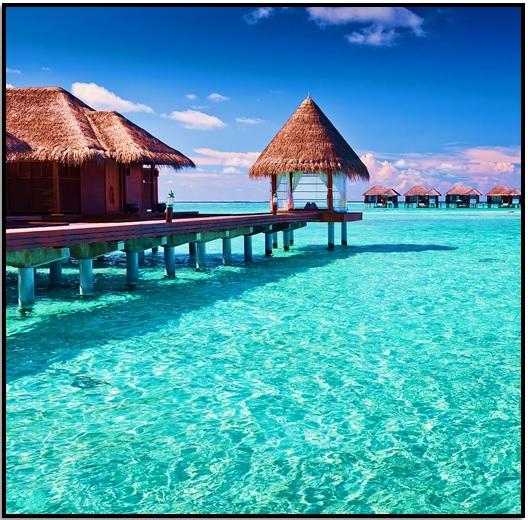 Bora Bora'da Deniz Üstünde Bir Bungalow'da Kal