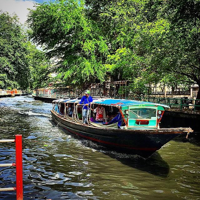 Tayland - Bangkok - Nehirde Tekneler