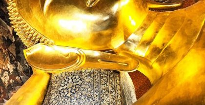 Tayland-Bangkok-Wat-Pho-Tapınağı-Yatan-Buddha-Heykeli